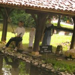 reconstitutions scenes vie campagne - village bournat