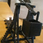 miniature catapulte - Château de Castelnaud