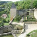 vue potager - Château de Castelnaud