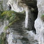 Roque Saint Christophe - escalier roche