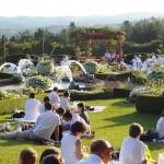 jardins manoir eyrignac - pique nique en blanc