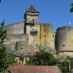 vue depuis le village - Château de Castelnaud