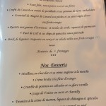 Carte - Le Chambellan