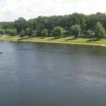 plage du buisson - vue du pont