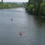 plage limeuil - canoes