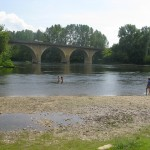plage limeuil - pont