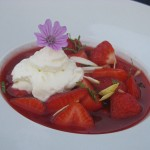La Savie - dessert soupe de fraises
