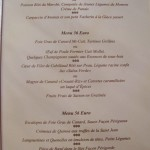 carte menu - vieux moulin beune