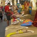 marché stands - fête médiévale Belvès