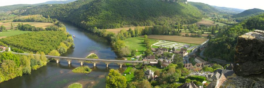 village de Castelnaud-la-chapelle en Dordogne